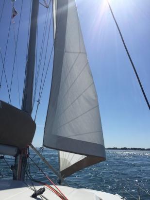 Flapping sail at 7.8 knots
