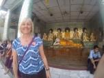 Lorraine with the Bhuddas