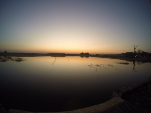 last of the sunset at U Bein Bridge