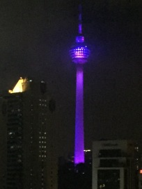 KL Tower - illuminated - from hotel room