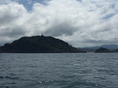 C1. Mont Urgull from the sea, San Sebastian 15.7.17.