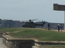 C2. Helicopter dropping off