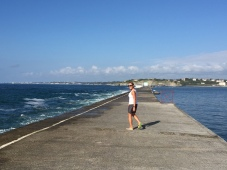 D2A. walking on Socoa breakwater 12.7.17.