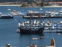 C1. Pinta - Christopher Columbus' ship at Baiona 9.8.17.