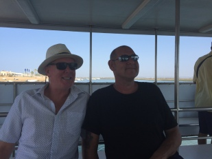 F1. Ian and Gary on Ferry to Faro 7.9.17.