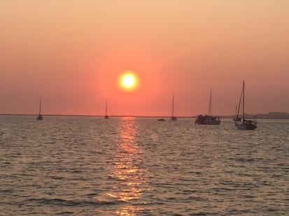 G1. Sunset, Culatra, Faro 8.9.17.