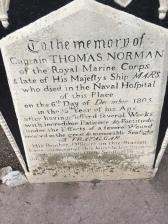 C2. Tombstone, Trafalgar Cemetery, Gib 13.10.17.