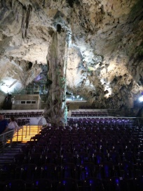 Seats for concerts in St Michael's Caves