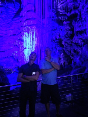 Graham and Ian in St Michael's Caves