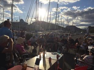 A3. Cartagena BBQ singing sailors 5.11.17.