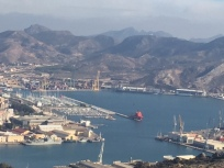 G2. view of harbour from castle - Cartagena Nov 17