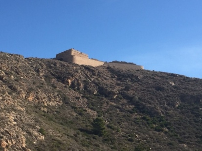 H2. View of castle from opposite hill - Cartagena - 22nd Nov 2017