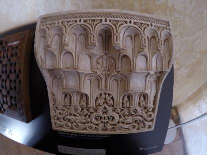 Plasterwork at Nasrid Palace, Granada