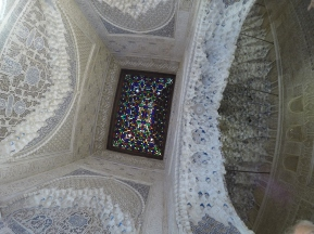 Stained glass ceiling at Nasrid Palace, Granada