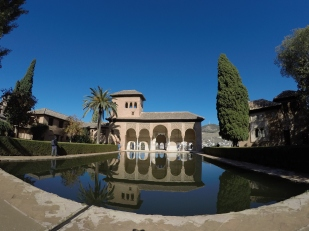 The Partal of the Alhambra includes the Tower of the Ladies and the Gardens