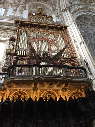 One of the two organs, Cordoba Cathedral