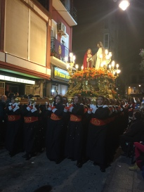 C6. Trono carried y women, Procession, Cartagena 23rd March 2018b