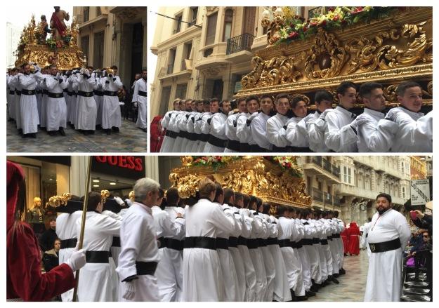 E12a. Psalm Sunday procession, Cartagena 25.3.18._collage