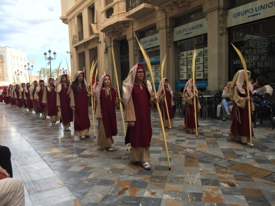 E5. Psalm Sunday procession, Cartagena 25.3.18.
