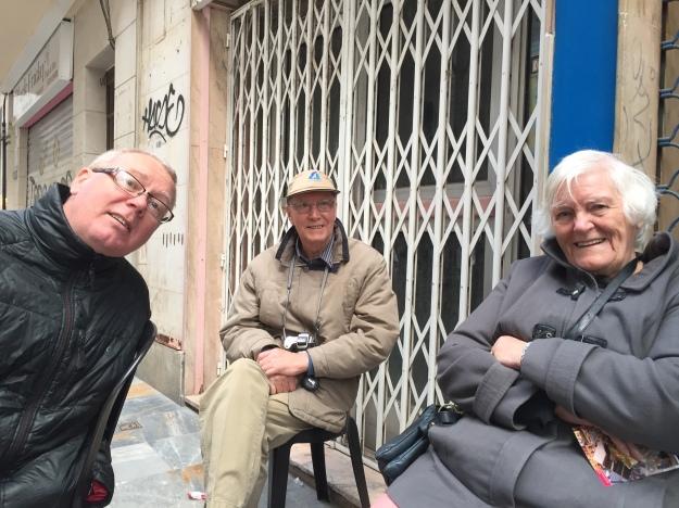 F. Ian, John and Irene, Cartagena 25.3.18.