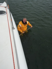 5. Ian cleaning the bottom, Mar Menor 19.4.18.