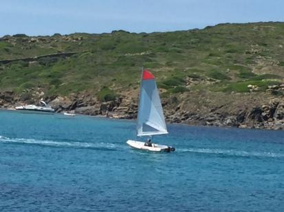 F1. Sailing in Illa d colom, 8.6.18.