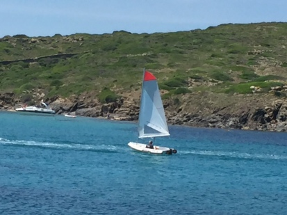 F1. Sailing in Illa d colom, 8.6.18.