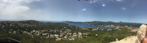 View of the whol bay of Santa Ponsa