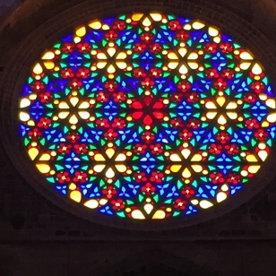 C5. Stain glass window at Palma Cathedral 20.6.18.