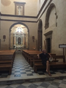 C3. Ian in Alghero Cathedral 25.7.18.