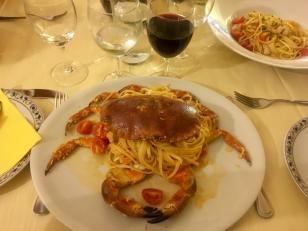Crab linguine