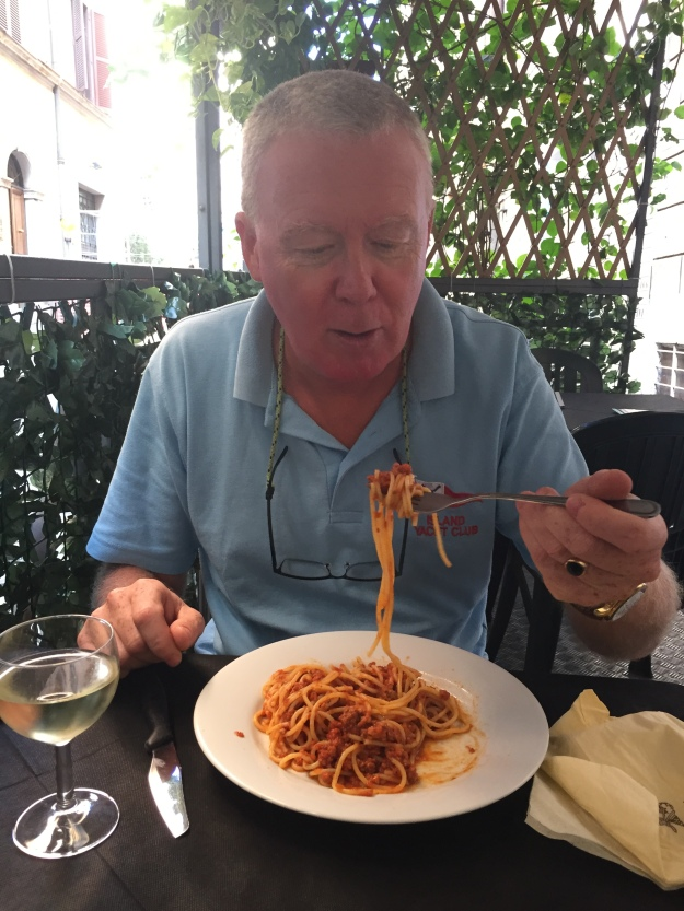 B4. Ian with his Spag Bol 8.10.18.