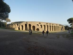 Exterior of Ampitheatre in Pompeii