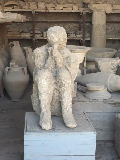 Preserved body from Pompeii